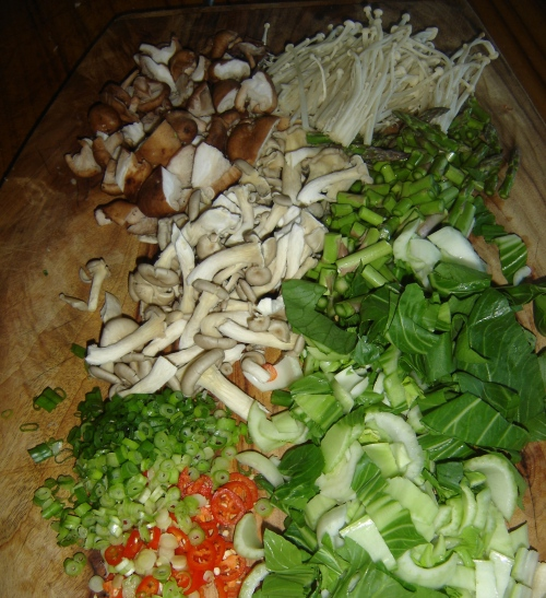 chop your vegetables. This makes it heaps easier to eat them...