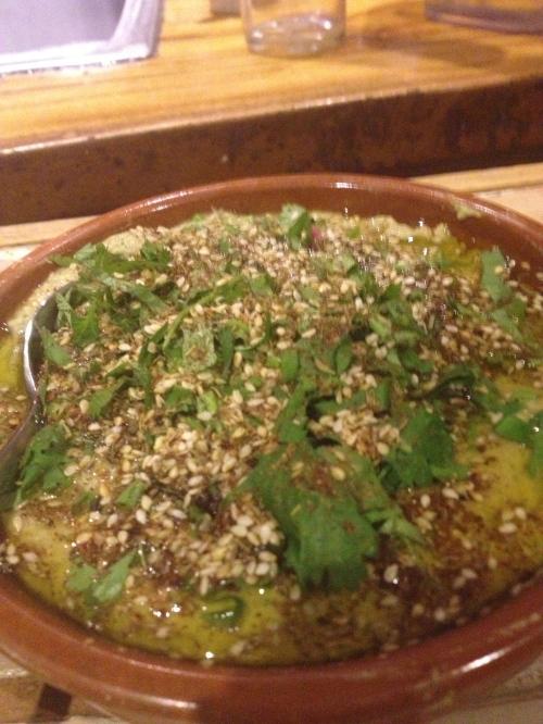 Hummus with zaatar