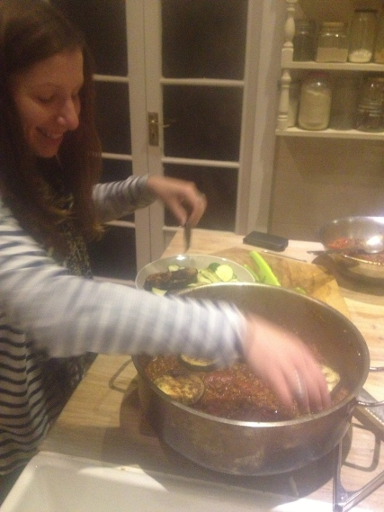 "If Sammy aka ""Sammy the Gelfling"" is abourt put her to work layering the moussaka"