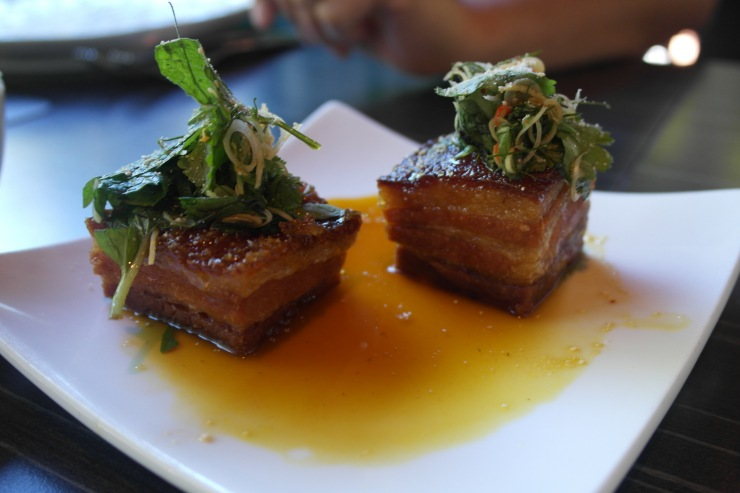 Crisp pork belly with citrus caramel $14