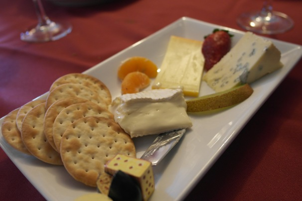 ...and then a cheese plate. Now I am seriously effing full