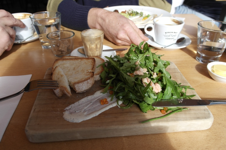 Smoked trout salad goodness