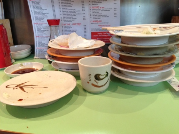 After the sushi train demolition