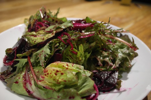 Pickled beetroot salad