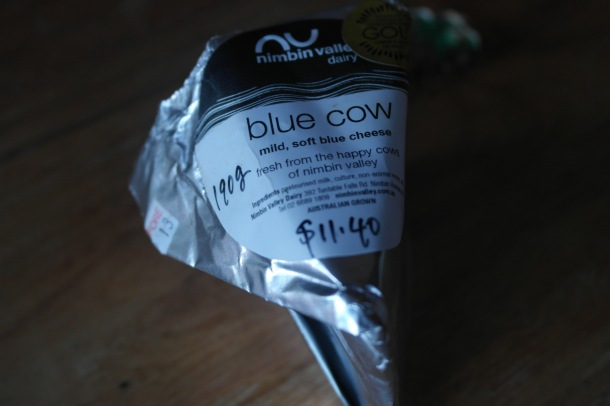 Nimbin Valley Dairy's blue cow. Not an actual cow but a damn fine blue cheese if you can ever get hold of it!