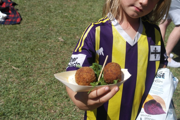 Eggplant and feta balls