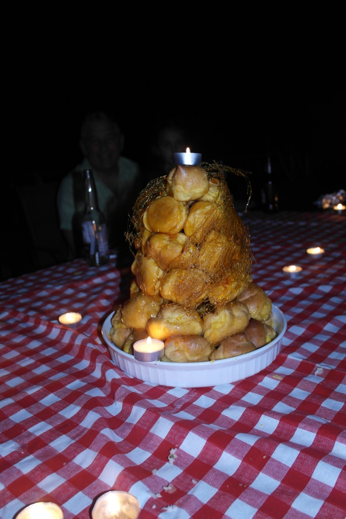 Finish the night with a croquembouche so every body knows you're a boss