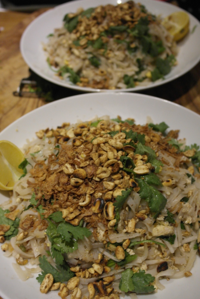 Lots of pad thai. We better invite the neighbours. Done!