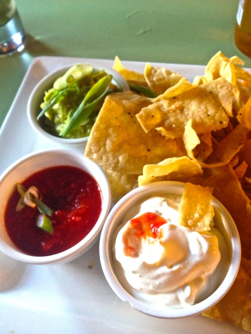 Corn chips with dips $12