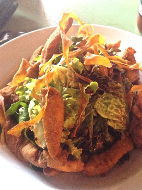 Crispy snapper salad with tamarind and ginger $21