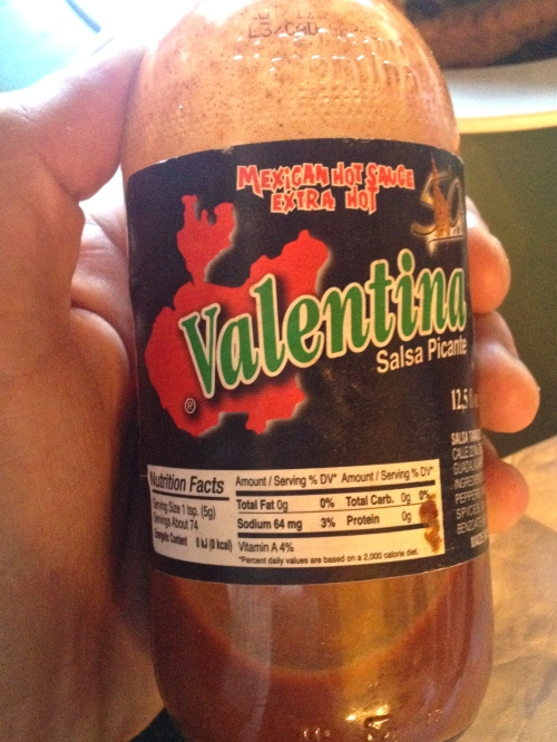Our friend the hot sauce
