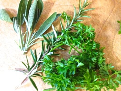 A few herbs from the garden