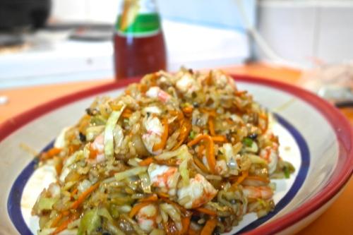 Stir-fried prawny goodness