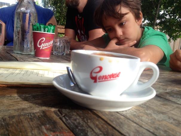 Seba wasn't too phased by the coffee