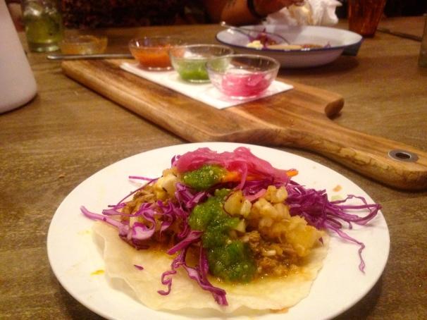 The pork taco