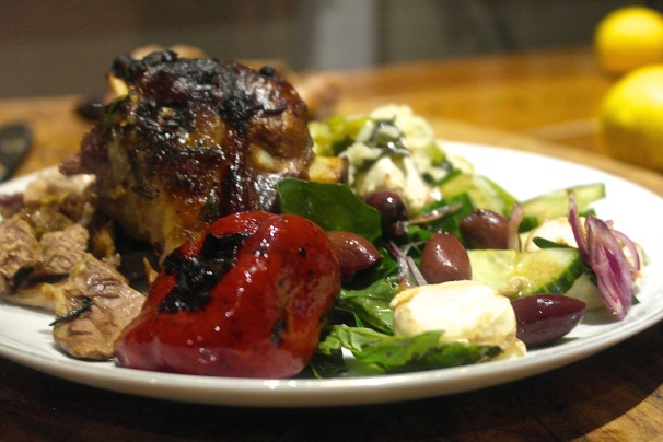 Mmmmm. Roast lamb in the fire
