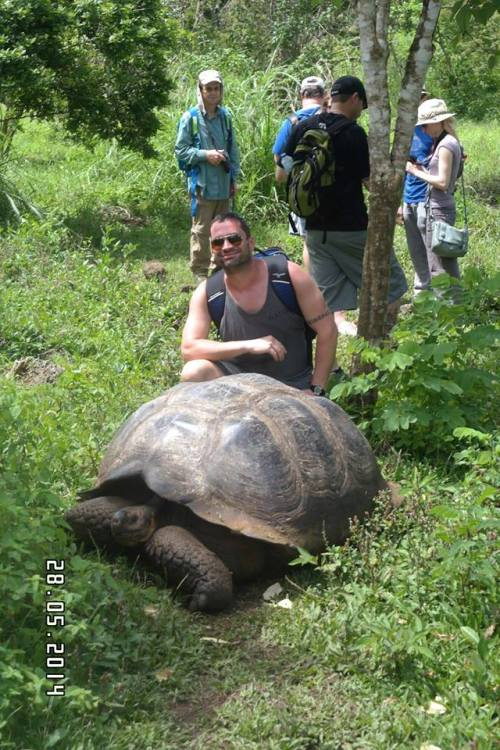 One of these people is Paul, the other one is a giant fucking tortoise