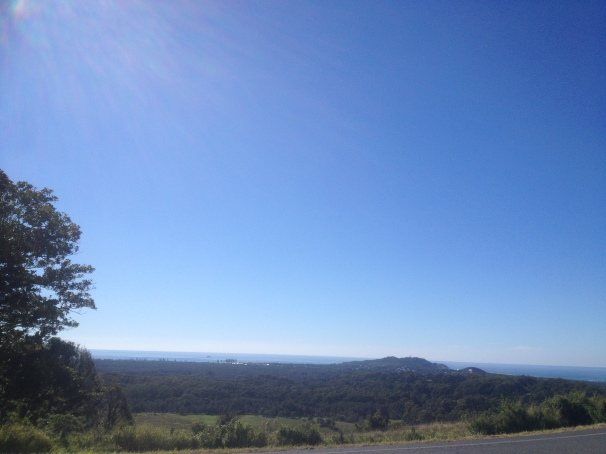 The view of Byron Bay from the hills