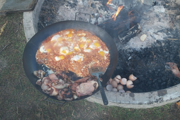 When cooking breakfast for a crowd, employing the use of your family size paella pan is recommended