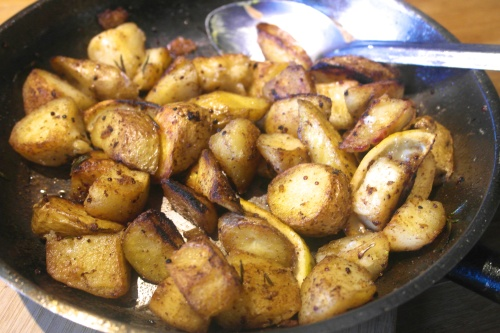 Crispy golden potato-y love