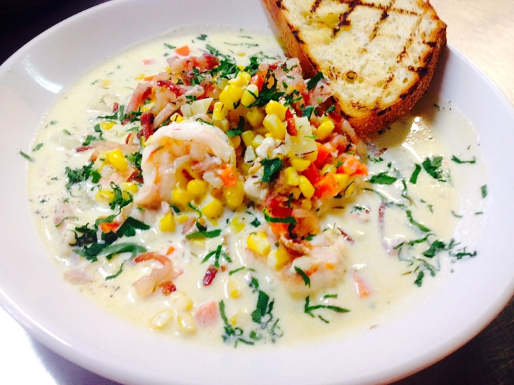 One I prepared earlier. The original seafood chowder. This pic was begging for a story