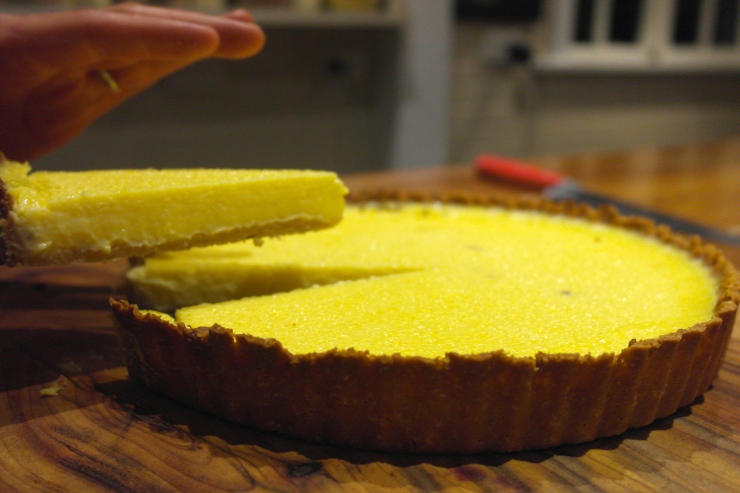 To top it all off, a baked lemon tart