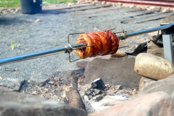 The spinning glory that is the spit roast