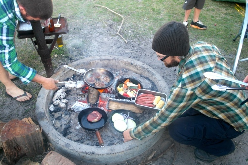 Get in line for the camp kitchen