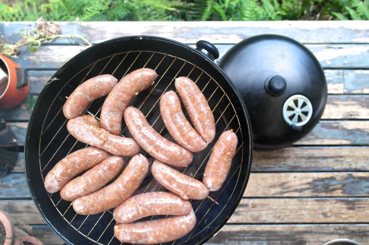 First, I smoked my own chorizo sausages