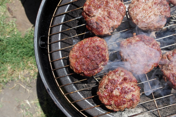 Burgers grilled over coals are damn good burgers