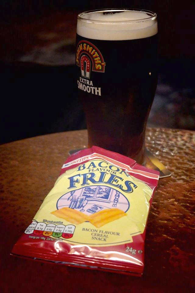 Bacon chips and beer… life just keeps getting better