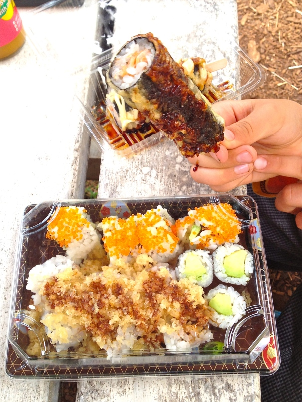 That nori collection including the tempura fish popsicle