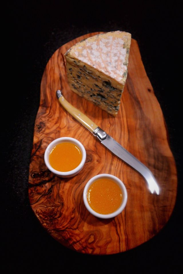blue cheese with truffle honey