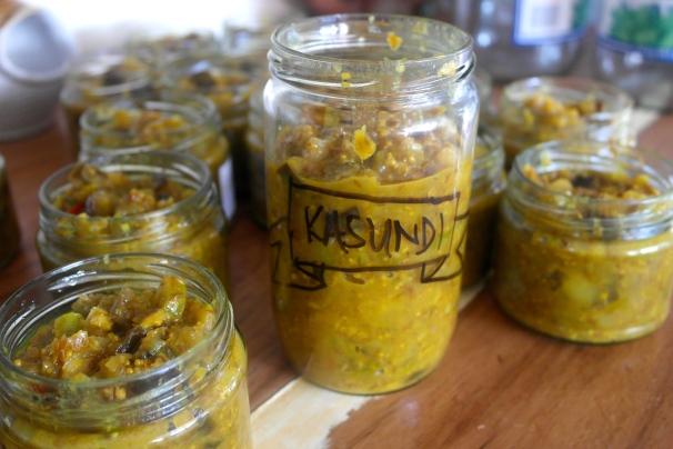 eggplant kasundi chutney