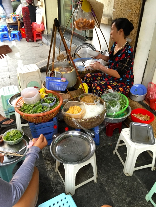 Legit as heck - pho getting served in the streets of Hanoi