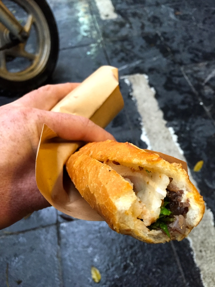 Banh mi. The photo may not look much chop, but the flavours... dear good lord