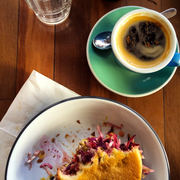 breakfast at the there blue ducks at the farm byron bay