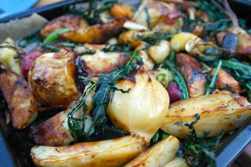 Yes, those roast vegetables