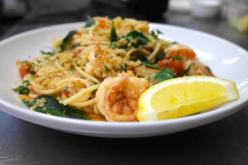 prawn and chorizo pasta