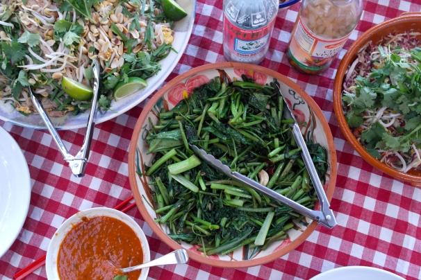 Those garlic and soy greens