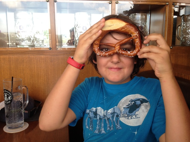 I'm pretty sure this is compulsory for your first time on a pretzel