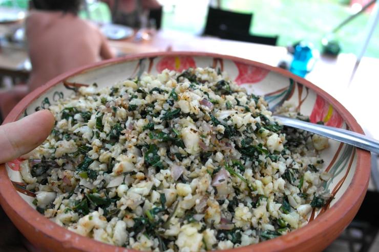 Herby, lemony cauli-cous