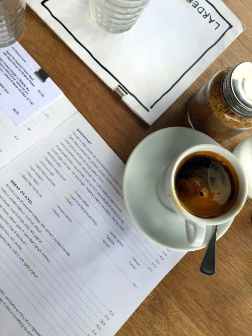 Getting my a.m. coffee on at Larder