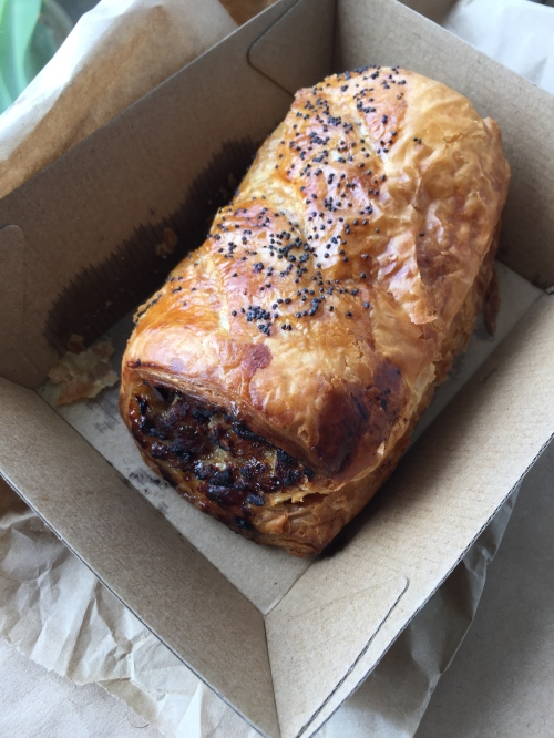 This pork, pistachio and apple sausage rolls was one of the best