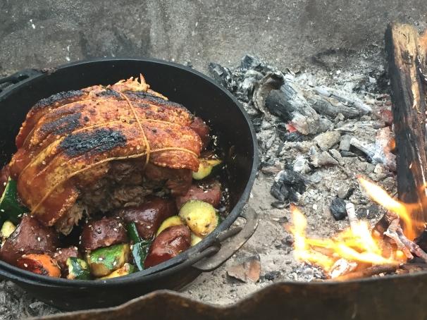 campfire roast pork