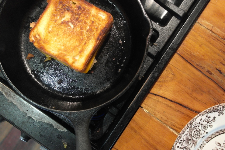 Golden brown is a pretty good colour for a toasted sandwich.