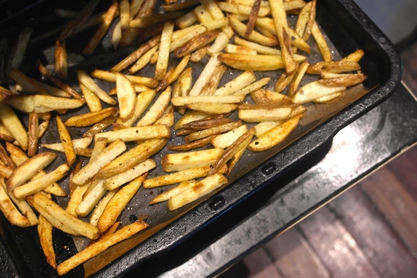 Do not, i repeat, do not forget to make some chips (fries)