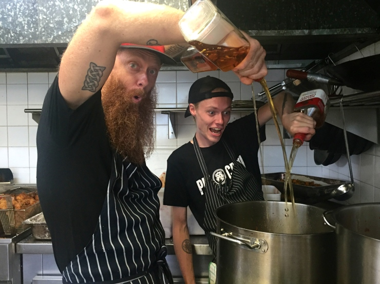 At work we made muchham glaze for the people. This involved a lot of booze...
