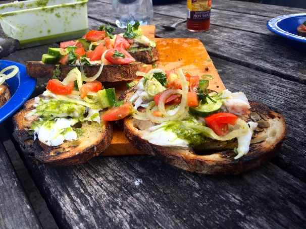 fish bruschetta