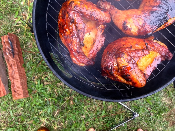 Just grillin' some really tasty chicken... really tasty chicken